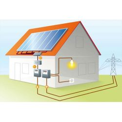 Сетевая солнечная станция 10 кВт (инвертор OMRON + солнечные панели 250 Вт)