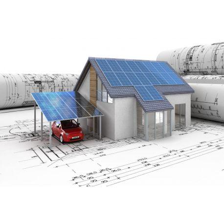 Автономная солнечная электростанция мощностью 1 кВт 3 часа