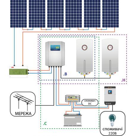 Фотоэлектрическая система ГВС SOLAR KERBEROS 315.B/C/H
